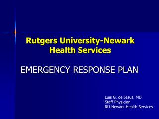 Rutgers University-Newark Health Services