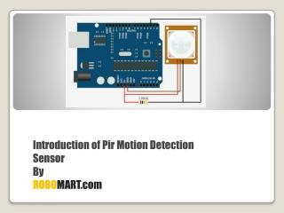 HC-SR501 PIR Motion Sensors Online - Robomart
