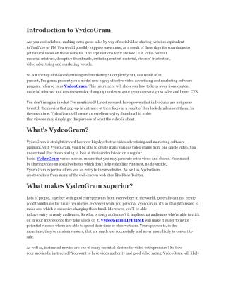 VydeoGram Review - Is this how you are losing 80% of video views.docx