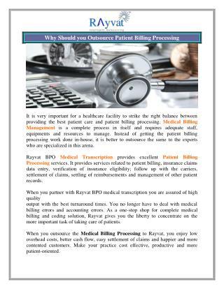 Outsource Medical Billing Management