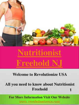 Nutritionist Freehold NJ