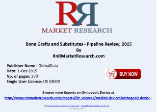 Bone Grafts and Substitutes Pipeline Products by Estimated Approval Date