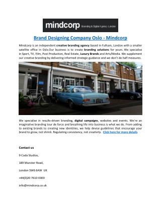 Brand Designing Company Oslo - Mindcorp