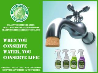 Pearl Waterless Product to help conserve water