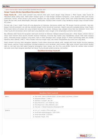 Review Toyota 86