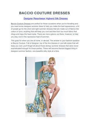 Baccio Couture Dresses
