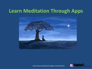 Learn Meditation Through Apps