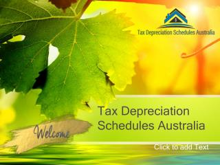 Investment property in Tax Depreciation Schedules Australia.