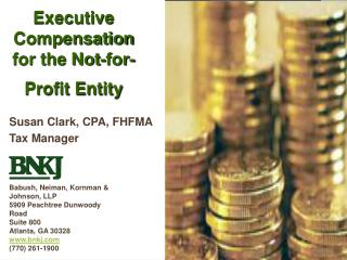 Executive Compensation for the Not-for-Profit Entity, BNKJ, September 2005