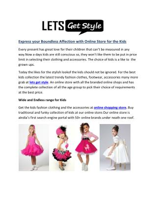 Online shopping with lets get style|Kids online shopping store- letsgetstyle.com