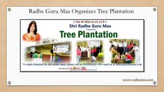 Radhe Guru Maa Organizes Tree Plantation