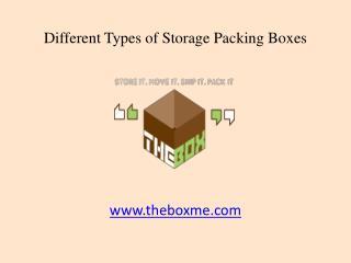 Types of Corrugated Storage Packing Boxes in Dubai, UAE