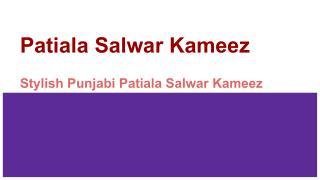 Stylish Punjabi Patiala Salwar Kameez