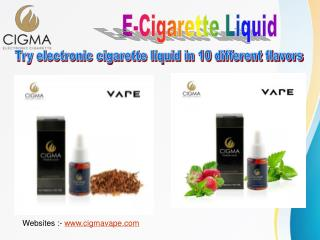 Try electronic cigarettes and save money