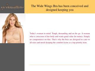Wide Wings Bra Online, Intimate Wear Online Shop