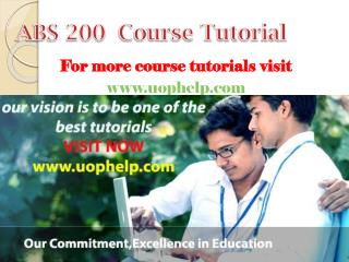 ABS 200  Academic Coach/uophelp