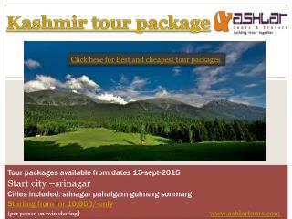 best kashmir tour package