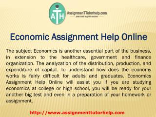 Economic Assignment Help Online