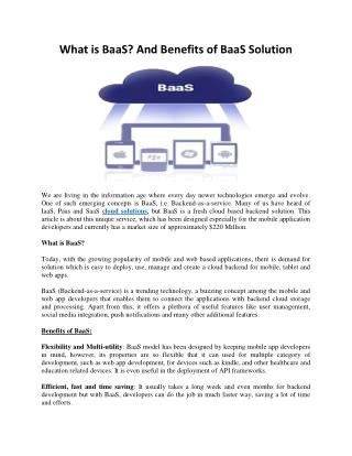 What is BaaS? And Benefits of BaaS Solution