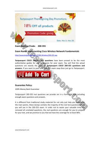 Cisco CCNA Wireless 200-355 actual questions