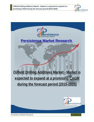 Oilfield Drilling Additives Market - Market is expected to expand at a promising CAGR during the forecast period (2015-2