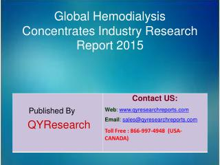 Global Hemodialysis Concentrates  Market 2015 Industry Growth, Trends, Analysis, Research and Development
