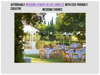 AFFORDABLE WEDDING VENUES IN LOS ANGELES
