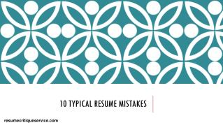 10 typical resume mistakes
