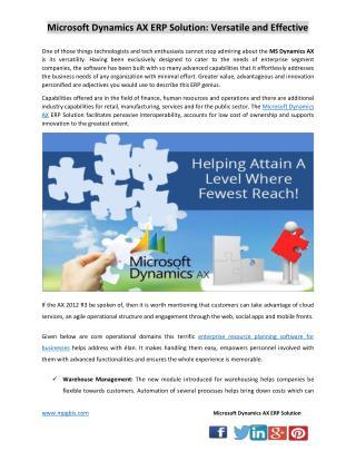 Microsoft Dynamics AX ERP Solution