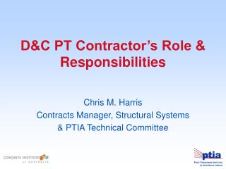 DC PT Contractor s Role  Responsibilities
