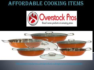 Affordable cooking Items