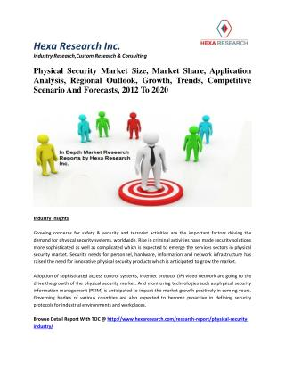 Physical Security Market Size, Market Share, Application Analysis, Regional Outlook, Growth, Trends, Competitive Scenari