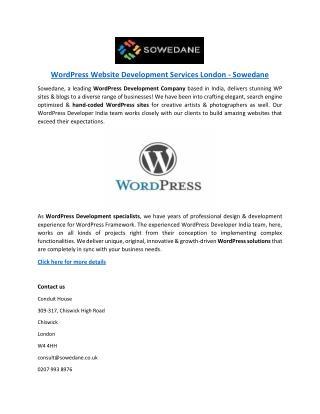 WordPress Website Development Services London - Sowedane