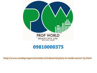 Industrial Plots For Sale In Noida Sector 63