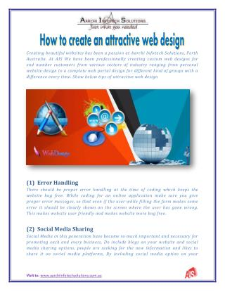 how to create an attractive web design