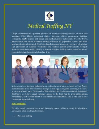 Medical Staffing CA