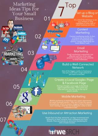Top 7 Marketing Ideas Tips For Your Small Business