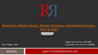 Biometrics Market Shares, Market Strategies, and Market Forecasts, 2015 to 2021