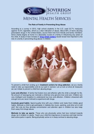 The Role of Family in Preventing Drug Abuse