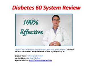 Diabetes 60 System Reviews -Diabetes 60 System Review