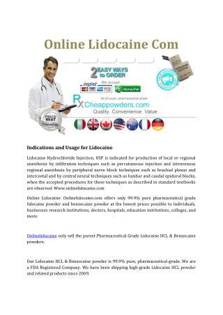 Online Lidocaine Com