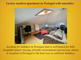 Luxury modern apartment in Portugal with amenities