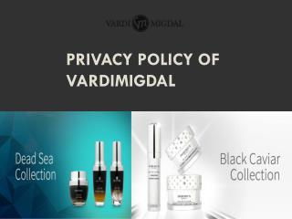 Privacy Policy of Vardimigdal