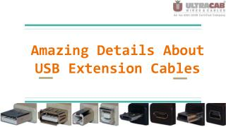Know more about USB Extension Cables