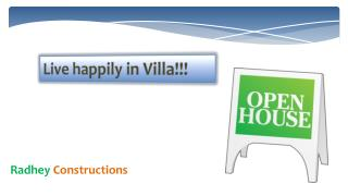 Live happily in Villa!!!