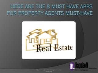 Here are the 8 must have apps for property agents must-have
