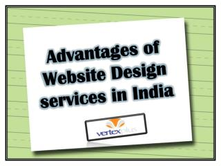 Advantages of Website Design services in India