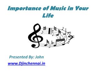 Importance of Music in Life