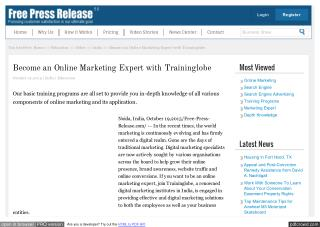 Become an Online Marketing Expert with Traininglobe