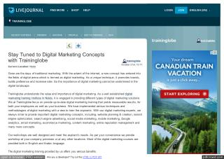 Stay Tuned to Digital Marketing Concepts with Traininglobe